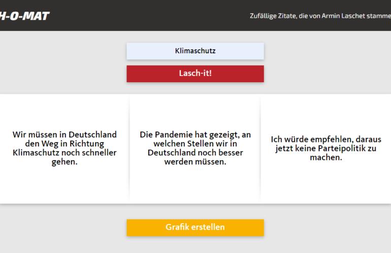 Let's lasch-it: Laschet-Zitate würfeln